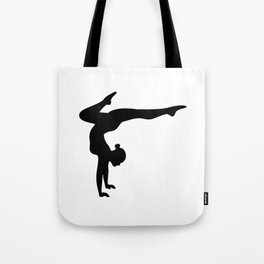 B&W Contortionist Tote Bag