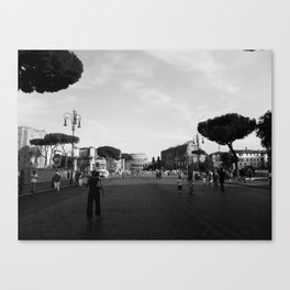 all roads lead to rome Canvas Print