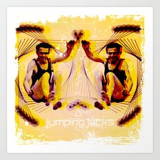 Jumping Jacks Art Print
