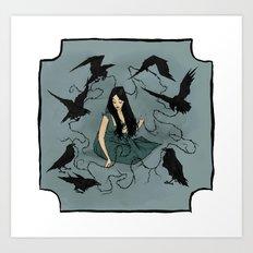 Seven Ravens Art Print