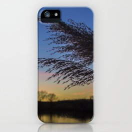 bluehour at the lake iPhone Case