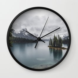 Maligne Lake Jasper Alberta Wall Clock