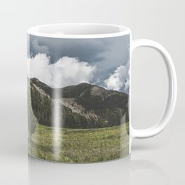 Landsape Waterton Meadow and Rolling Hills   Nature   Skyscape Clouds Coffee Mug