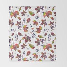 Autumn Grapes Throw Blanket