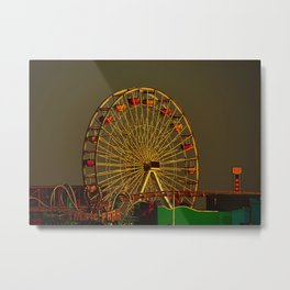 Pacific Park at sunset Metal Print