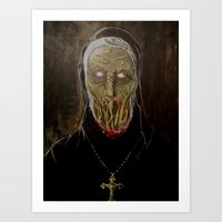 sister Art Prints featuring Sister  by voxxxes