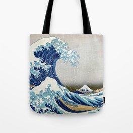 Katsushika Hokusai The Great Wave Off Kanagawa Tote Bag