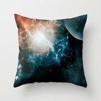 universe Throw Pillows featuring Universe by nicky2342