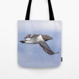Razorbill in flight Tote Bag