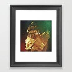 Space Crystal IV Framed Art Print
