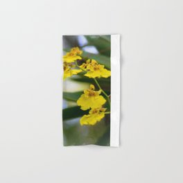 Yellow Orchids Hand & Bath Towel