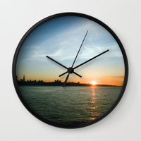 1989 Wall Clocks featuring Oct. 16, 1989 San Francisco view. by David Louis Klein