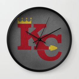 Kansas City Sports Red Wall Clock