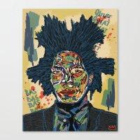basquiat Canvas Prints featuring BASQUIAT by Blaz Rojs