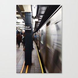 Wallstreet Subway Canvas Print
