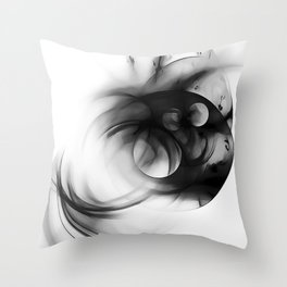 abstract fractals 1x1 reacbwi Throw Pillow
