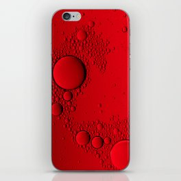 Red Bubbles iPhone Skin
