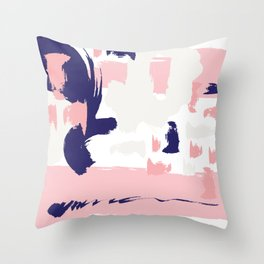 Navy Abstract Throw Pillow