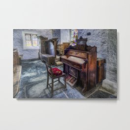 Olde Church Organ Metal Print