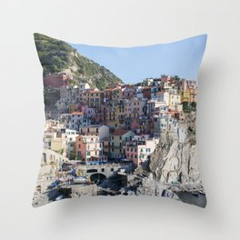 Manarola, Cinque Terre Italy Throw Pillow