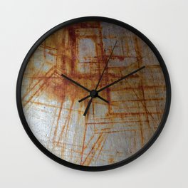 Rusty Boxy Wall Clock