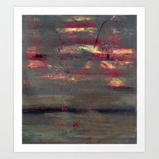 Abstract America (oil on canvas) Art Print