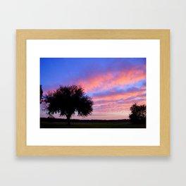 Cotton Candy Sunset Framed Art Print