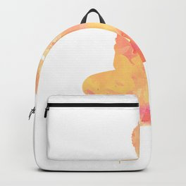 Buddha art illustration watercolor Backpack