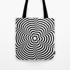 Modern Black & White Geometric Optical Illusion Tote Bag