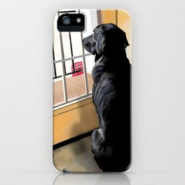 Ajax Watches the World Go By iPhone Case