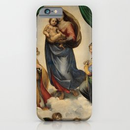 The Sistine Madonna iPhone Case