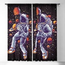 Space Basketball Blackout Curtain