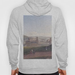 View Of Salzburg 1831 by Rudolf von Alt | Reproduction Hoody