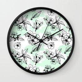 Cherry Flowers IV Wall Clock