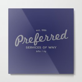 Preferred Services of WNY in Gray Metal Print