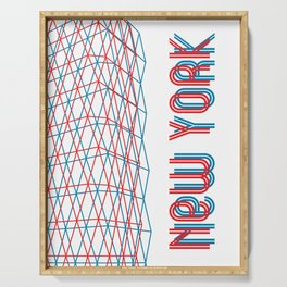 New York City pattern Serving Tray