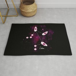 Libra Constellation in Pink Tourmaline - Star signs and birth stones Rug