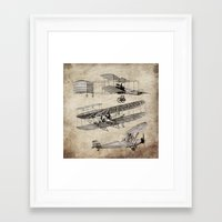 airplanes Framed Art Prints featuring airplanes by Кaterina Кalinich