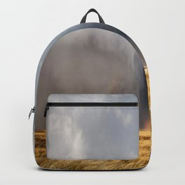 Follow the Rainbow - Bright Rainbow Between Storm Clouds Backpack