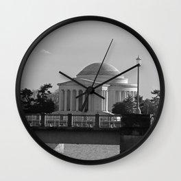 Jefferson Memorial on Christmas 2017 Wall Clock