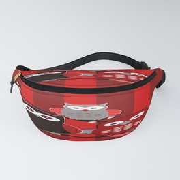 Red Owls Fanny Pack
