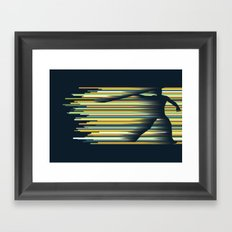 Olympic Javelin Framed Art Print