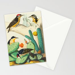 Monograph of the Picides Alfred Malherbe 1861 Vintage Bird Cactus Flower Illustration Stationery Cards
