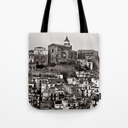 Sicilian Mountain Village Tote Bag