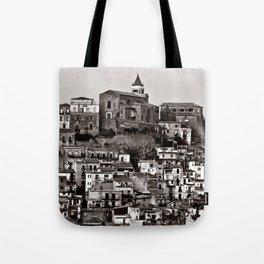 Sicilian Mountain Village Tote Bag