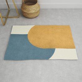 Halfmoon Colorblock - Gold Blue Rug