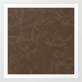 Quincy Tobacco Brown Art Print