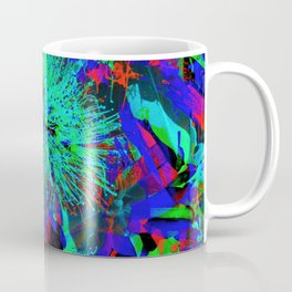 """Kiwi Lifestyle"" - Pohutukawa NZ Blue Bloom- Pop ART Coffee Mug"
