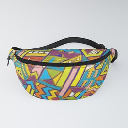 Colorful Geometric African Tribal Pattern Fanny Pack