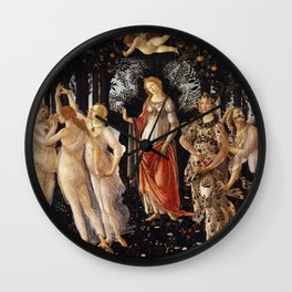 Primavera, Botticelli Wall Clock